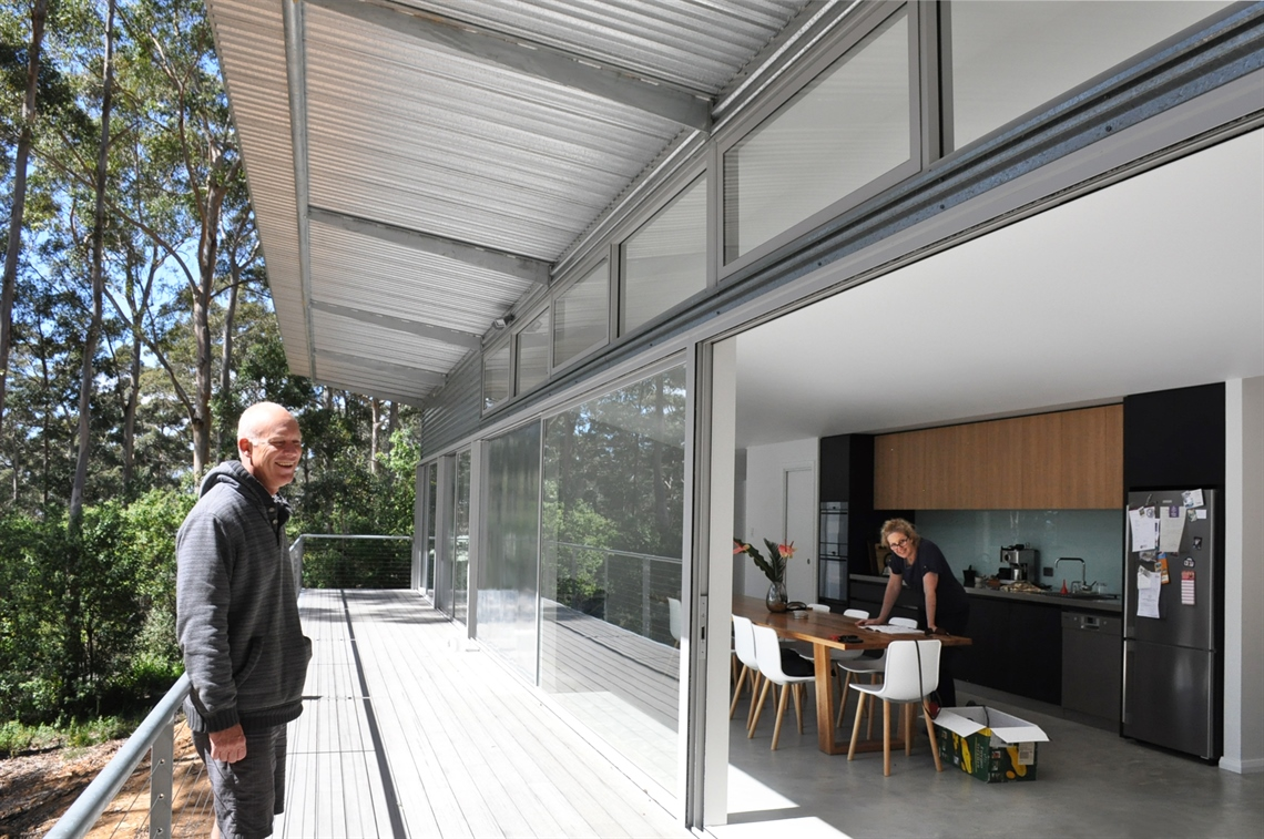 FORTIS house architects Ian Weir and Kylie Feher